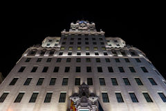 Former Telefonica headquarters in Gran Via, Madrid Stock Images