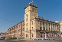 Former textile factory at the Independence Square in Gyumri Royalty Free Stock Photography