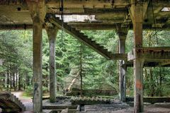Former the tin mine and war prisons Rolava - Sauersack stock image