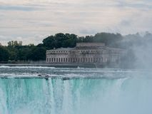 Former Toronto Power Generating Station and the beautiful Horeshoe Fall. At Canada royalty free stock photo