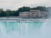 Former Toronto Power Generating Station and the beautiful Horeshoe Fall. At Canada royalty free stock image