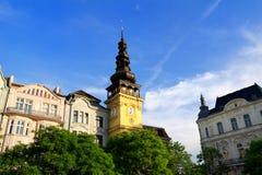 Former town hall, Ostrava, Czech Republic. Former town hall (Stara radnice), now ostravian museum, Masaryk square (Masarykovo namesti), Ostrava, Czech republic stock photo