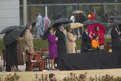 Former US President George HW Bush, Laura Bush Royalty Free Stock Photo