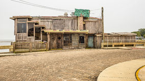 Former waterfront restaurant in the historic downtown Cedar Key Royalty Free Stock Photos