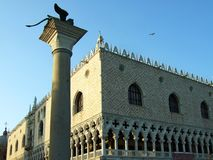 Palazzo Ducale or Doge`s Palace in Venice Italy stock image