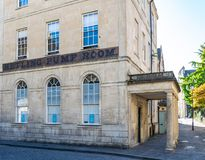Formerly known as No.5 The Old Hetling Court Pump Room, Hot Bath Street and Hetling Court. Pump Room, now offices. Bath, England stock photo