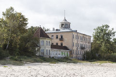 Formerly magnificent bathing establishment in Jurmala Royalty Free Stock Photo