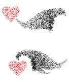 Formes abstraites avec les notes musicales illustration libre de droits