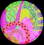 Formes abstraites circulaires d'imagination Images libres de droits
