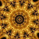 Formes abstraites d'or, fractale Images stock