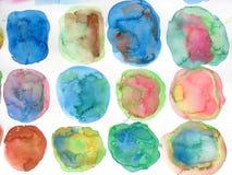 Formes abstraites de conception de fond d'aquarelle Image libre de droits