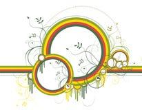 formes abstraites de couleur de fond avec illustration libre de droits