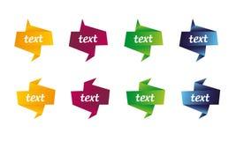 Formes abstraites de drapeau de vecteur colorées Photographie stock libre de droits