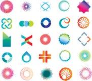 Formes abstraites de logo Photos libres de droits