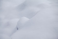 Formes abstraites de neige Photo stock