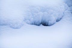 Formes abstraites de neige Photographie stock libre de droits