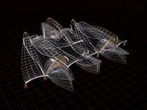Formes architecturales. modèle du fil 3d illustration stock