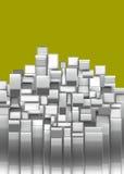 formes argentées rectangulaires de chrome incurvées par 3d Photo libre de droits