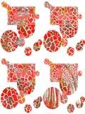 formes Art Retrait abstrait Copie sans couture Papier peint, conception de tissu Style de modèle Fond image libre de droits