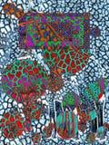 formes Art Retrait abstrait Copie sans couture Papier peint, conception de tissu Style de modèle Fond image stock