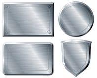 Formes balayées en métal Photographie stock libre de droits