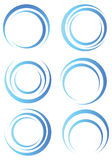 Formes bleues abstraites Images libres de droits