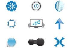 Formes bleues de logo Image stock