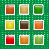 Formes carrées d'autocollant en Autumn Colors Images libres de droits
