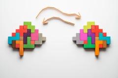 Formes colorées de cerveau abstrait images stock