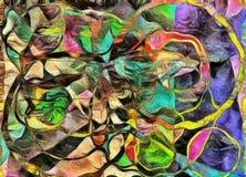 Formes, couleur et lignes de tourbillonnement Photo libre de droits