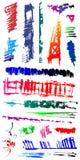 Formes criquées 6 de brouillon d'endroit grunge modifié de splat Photographie stock libre de droits