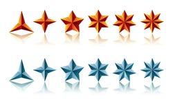 Formes d'étoile Image libre de droits