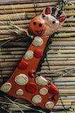 Formes d'argile peintes par les enfants 3 Images libres de droits