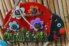 Formes d'argile peintes par les enfants 5 Images stock