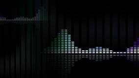 Formes d'onde animées et mètres de la musique vu 4K boucle-capable sans couture illustration libre de droits