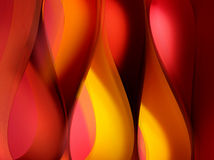 Formes d'onde chaudes de flamme de couleur photographie stock