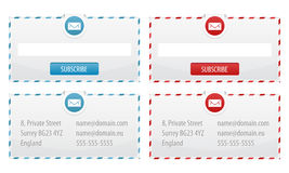 Formes de bulletin d'information et drapeaux de contact Image stock