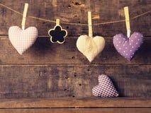 Formes de coeur avec un petit tableau Images libres de droits