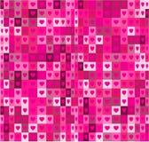 Formes de coeur et modèle géométrique sans couture de places Fond abstrait rose Images stock