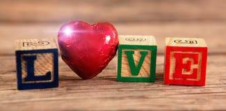formes de cube en amour Image libre de droits
