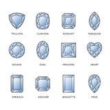 Formes de diamant illustration de vecteur