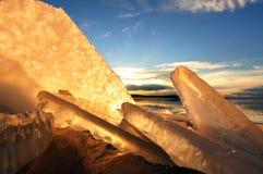 Formes de glace Photo libre de droits