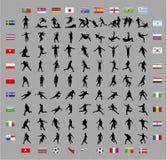 Formes de joueur de coupe du monde du football Images libres de droits