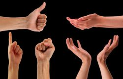 Formes de main avec le chemin photo libre de droits