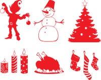 Formes de Noël Photographie stock libre de droits