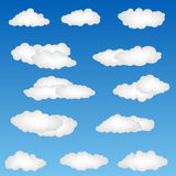 Formes de nuage Photographie stock libre de droits