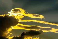 Formes de nuages dans le ciel Photo libre de droits
