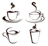 Formes de tasse de café illustration de vecteur