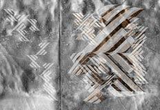 Formes de Techno sur le bleu métallique Photos libres de droits