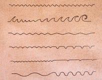 Formes de vague abstraites Images stock